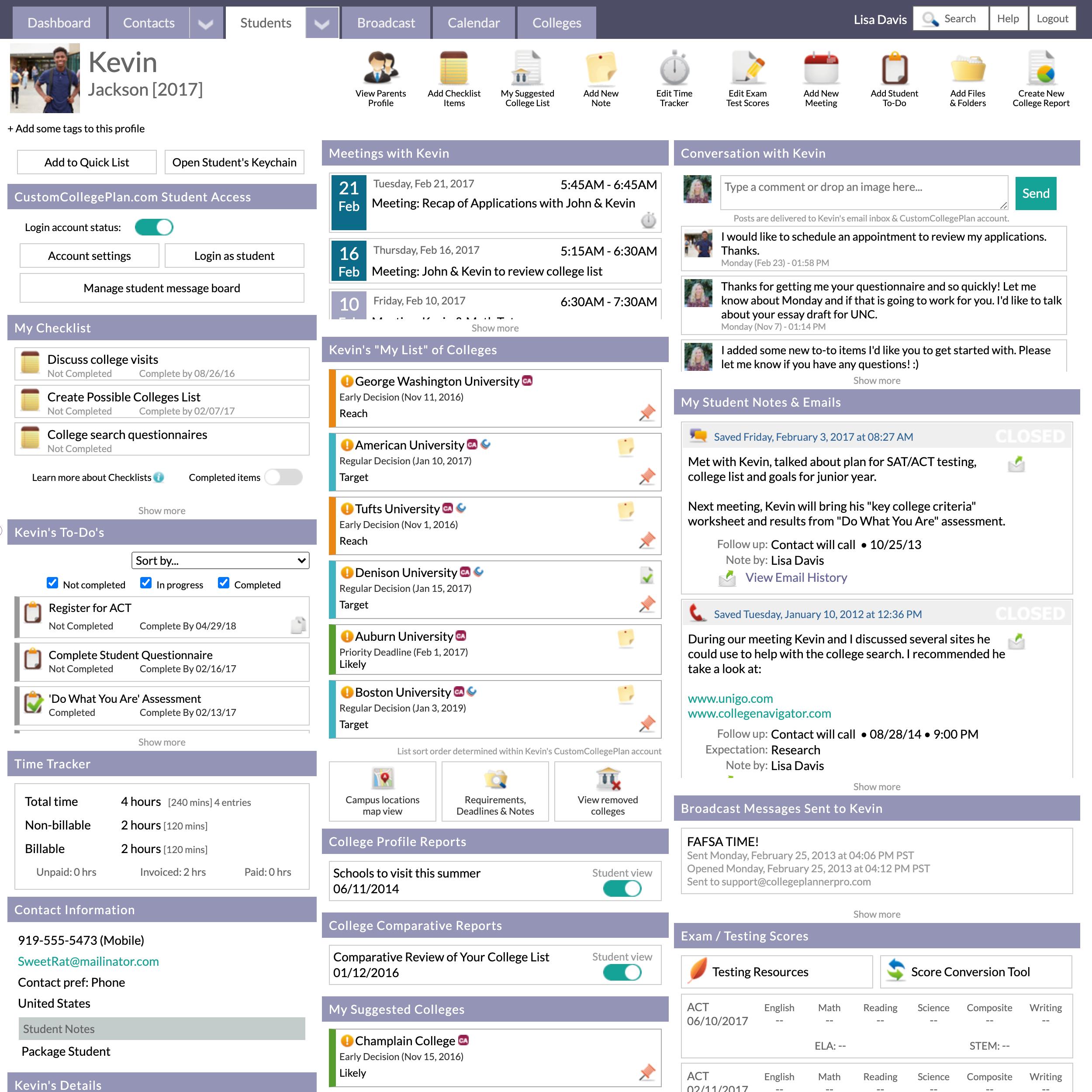 Student Profile Organization